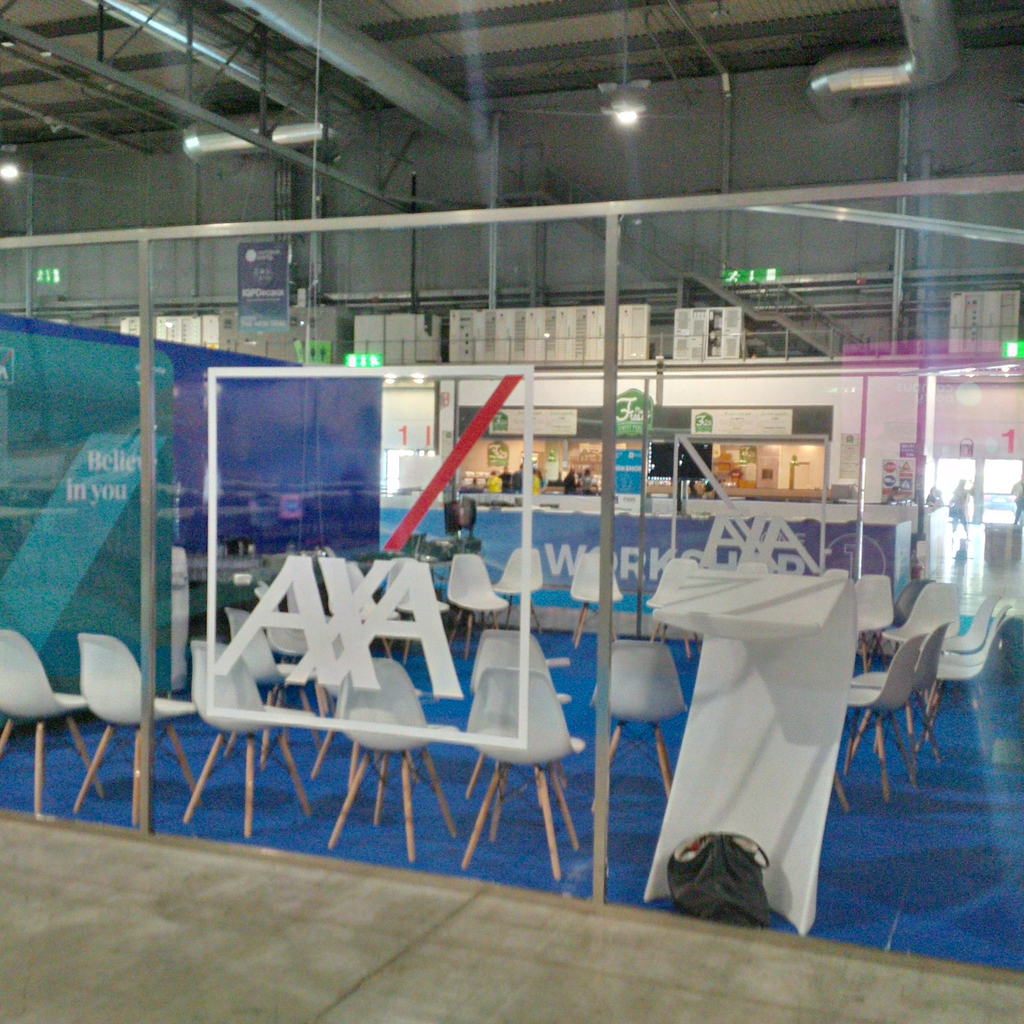 Lo stand di Axa al Campus party Italia
